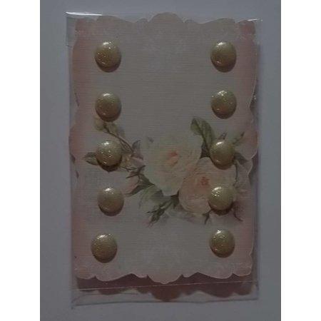 Embellishments / Verzierungen Cream colored glitter Brands