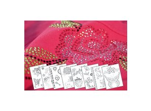 "BASTELZUBEHÖR / CRAFT ACCESSORIES Template Ironing Sheets A4 ""Romantic"""