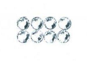 BASTELZUBEHÖR / CRAFT ACCESSORIES Swarovski krystaller perler til jern på, 3 mm, fane-blister 20 pc, krystal
