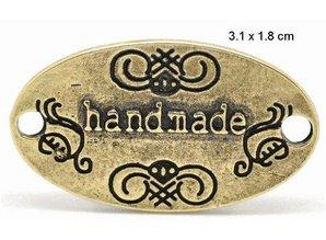"""Embellishments / Verzierungen """"Handmade"""" 4 etiketter i metal"""