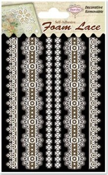 Embellishments / Verzierungen 3D lace edgings, 1 pack