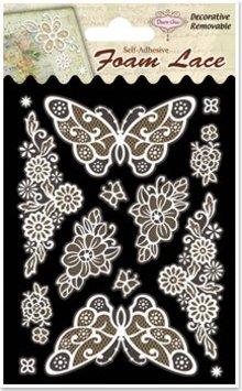 Embellishments / Verzierungen 3D blonder sommerfugle og hjørner