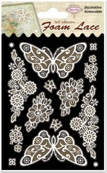 Embellishments / Verzierungen 3D-Spitzen Schmetterlinge und Ecken