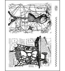 Viva Dekor und My paperworld Trasparente francobolli Topic: cucito