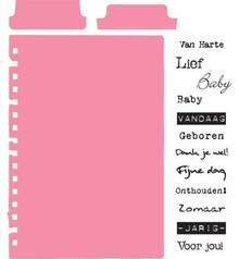 Marianne Design Stempel + Stanz- und Prägeschablone, Tabs & Text