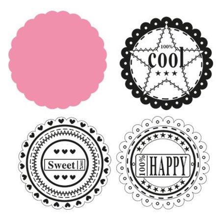 Marianne Design Marianne Design, Circle die & sentiments, COL1321