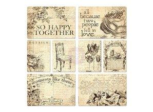 Embellishments / Verzierungen 8 forskellige designs hver 2 assorterede vintage etiketter