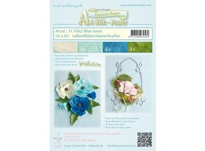 Leane Creatief - Lea'bilities To make fancy paper for flowers, 16 sheets of A5