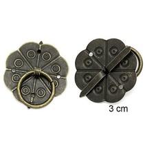 2 Scrapbog håndtag i metal, monteret med skruer med Brad