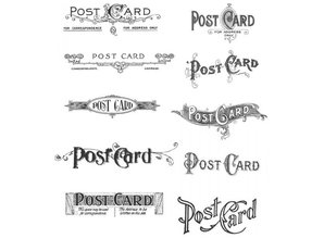 Tim Holtz Mounted stamp, stamper Postcards CMS099