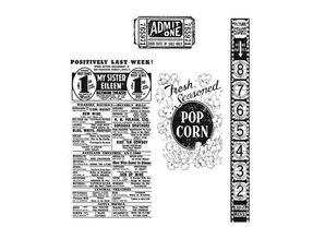 Tim Holtz Mounted stamp, stampers Anonymous Tim Holtz, At the Movies CMS081
