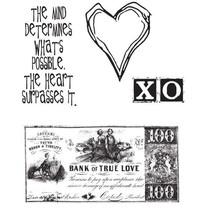 Tim Holtz, sellos de goma, 4 diseños