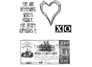 Tim Holtz Mounted stamp, from the heart CMS006