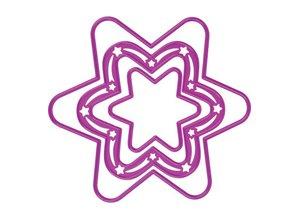 Joy!Crafts und JM Creation Joy Crafts, skæring og prægning stencil, 3 stjerner