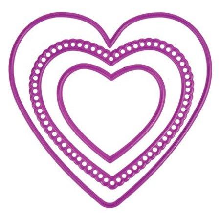 Joy!Crafts und JM Creation 3 corazones