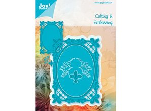 Joy!Crafts und JM Creation Oval Bourbon liljer