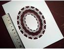 Marianne Design Y el estampado de la plantilla Passe-partout ovalada