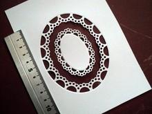 Marianne Design Stampaggio e goffratura stencil Passe-partout ovale