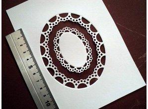 Marianne Design Stempling og prægning stencil Passepartout oval