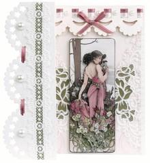 BASTELSETS / CRAFT KITS: Bastelset für 4 Romantische Faltkarten Nr1