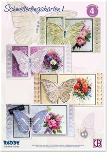 BASTELSETS / CRAFT KITS: Bastelset sommerfugl kort 1