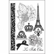 Prima Marketing Cling Stamps En Francais