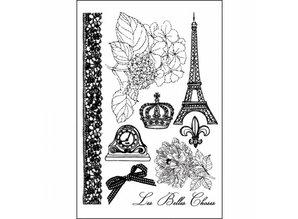 Prima Marketing und Petaloo Prima Marketing Cling stamps En Francais, 9 designs