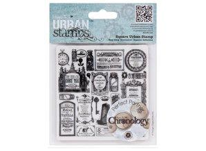 STEMPEL / STAMP: GUMMI / RUBBER Frimærker Klamrer Monteret Stamp Kronologisk farmaceut