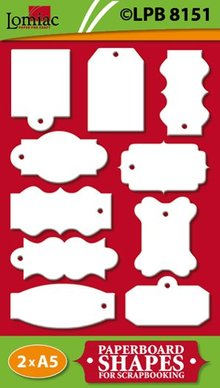 Embellishments / Verzierungen Chipboard Labels