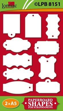 Embellishments / Verzierungen Etichette truciolare