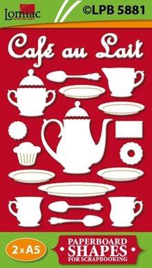 Embellishments / Verzierungen Chipboard motives Café au Lait