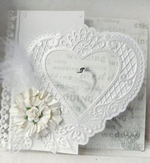 Marianne Design Punching jig, a filigree heart