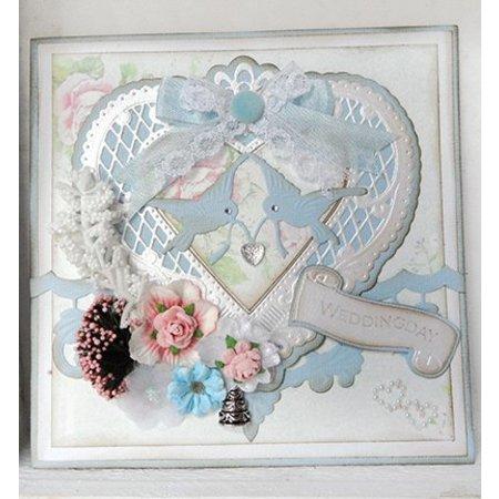 Marianne Design La perforación de la plantilla, un corazón de filigrana