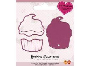 Yvonne Creations Yvonne Creations - Cut & Relief Die - Love Cupcake