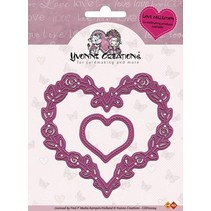 Yvonne Creations - Cut & Emboss Die - Love Hearts