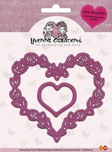 Yvonne Creations Yvonne Creations - Cut & Emboss Die - Love Hearts