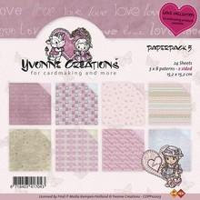DESIGNER BLÖCKE  / DESIGNER PAPER Yvonne Creations - Confezione Paper - Amore