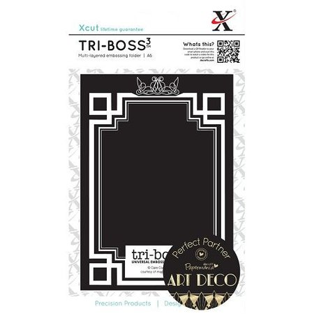 X-Cut / Docrafts Tri-Boss Emboss Folder (A6) - Strictly Party (Butterfly Aperture)