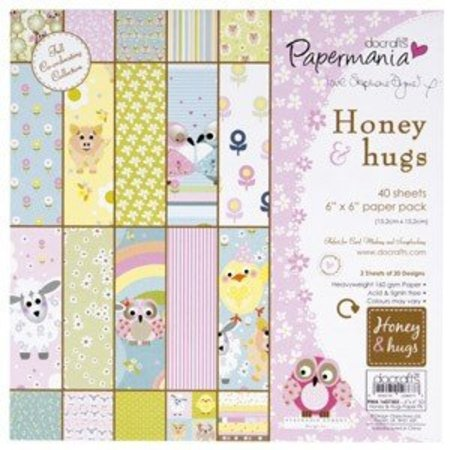 Docrafts / Papermania / Urban 160gr - miel y abrazos por stephanie Dyment (40PK)