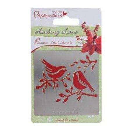 Docrafts / Papermania / Urban henbury lane poinsettia (robins), 75x75mm