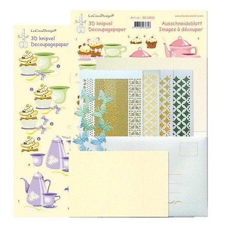 Exlusiv Komplet Bastelset für 6 Karten