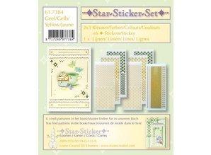 Sticker Star stickers set 2x3 star stickers + 1 lijn stickers
