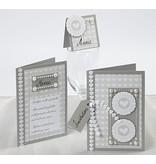 KARTEN und Zubehör / Cards Tamaño de tarjeta de 10,5 x15 cm, selección 10 Set: oro, plata o color crema