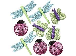 Embellishments / Verzierungen Geprägte Knöpfe aus Kunststoff