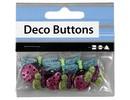 Embellishments / Verzierungen NUEVO: botones Motif, 15-30 mm, insectos, 9 unid.