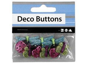 Embellishments / Verzierungen Præget plast knapper
