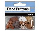 Embellishments / Verzierungen Botones Motif, 20-25 mm, perros, 7 unid.