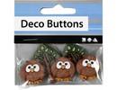 Embellishments / Verzierungen NUEVO: Motif botones, 25-40 mm, noctámbulos, 3 pcs.