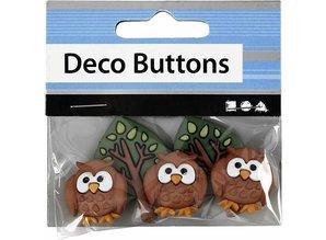 Embellishments / Verzierungen Embossed plastic buttons