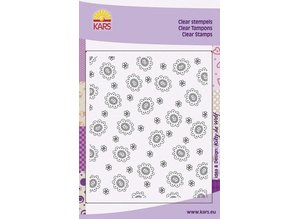 Stempel / Stamp: Transparent Background with heart flowers Flower, 8x16cm